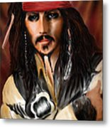 Sketching A Pirate... Metal Print