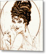 Sketchy Look 1919 Metal Print