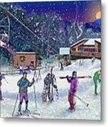 Ski Area Campton Mountain Metal Print