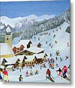 Ski Whizzz Metal Print by Judy Joel