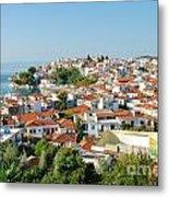 Skiathos Harbour In Greece Metal Print