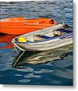 Skiffs At The Harbour Metal Print
