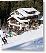 Skihaus Schifer Skier Davos Parsenn Klosters Metal Print