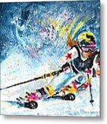 Skiing 03 Metal Print