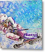 Skiing 06 Metal Print