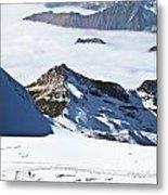 Skiing Down A Storm Metal Print