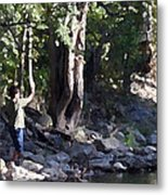 Skipping Stones Impressionist Fall Series #4  Metal Print by Sharon McLain
