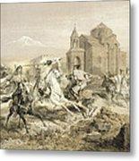Skirmish Of Persians And Kurds Metal Print