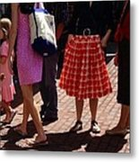 Skirts And Pooches On Capitol Hill Metal Print
