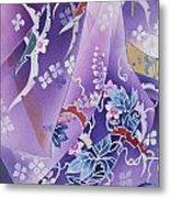 Skiyu Purple Robe Crop Metal Print