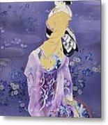 Skiyu Purple Robe Metal Print by Haruyo Morita