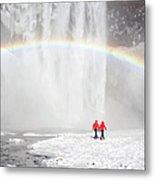 Skogafoss Waterfall, Iceland Metal Print