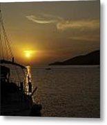 Skopelos - Through The Rigging Metal Print