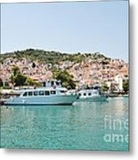 Skopelos Harbour Greece Metal Print
