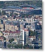 Skopje City And Stadium Metal Print