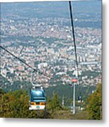 Skopje From The Cablecar Metal Print