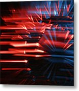 Skc 0272 Crystal Glass In Motion Metal Print