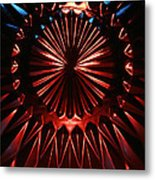 Skc 0285 Cut Glass Plate In Red And Blue Metal Print