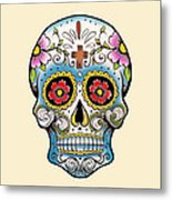 Skull 10 Metal Print