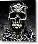 Skull And Chains Metal Print