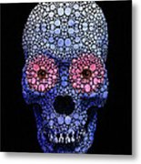 Skull Art - Day Of The Dead 1 Stone Rock'd Metal Print