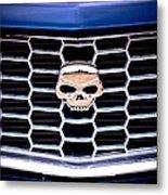 Skull Grill Metal Print