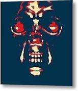 Skull In Hope Metal Print