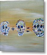 Skull Mathematics Metal Print