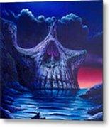 Skull Point Metal Print