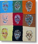 Skull Pop Nine Metal Print