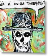 Skull Quoting Oscar Wilde.1 Metal Print