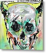 Skull Quoting Oscar Wilde.8 Metal Print