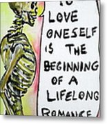 Skull Quoting Oscar Wilde.9 Metal Print