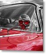 Skulls Head Chevy Metal Print