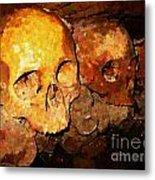 Skulls In The Paris Catacombs Metal Print