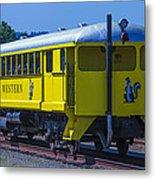 Skunk Train Passenger Car Metal Print