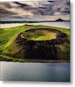 Skutustadagigar Pseudo Craters, Lake Metal Print