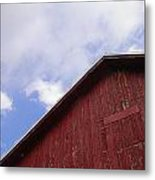 Sky And Barn Metal Print