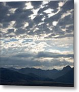 Sky And Mountains Metal Print