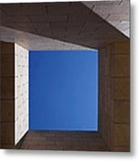 Sky Box At The Getty 2 Metal Print by Rona Black