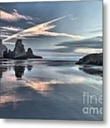 Sky Crosses Metal Print