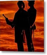 Sky Fire - 73rd Ny Infantry Fourth Excelsior Second Fire Zouaves-b1 Sunrise Autumn Gettysburg Metal Print
