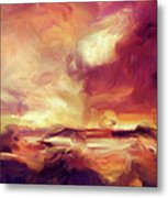 Sky Fire Abstract Realism Metal Print