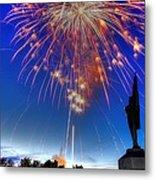Sky Fire - Pennsylvania At Antietam - 132nd Pa Volunteer Infantry July 4th 2014 - 1b Metal Print