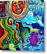 Sky Fruit Metal Print