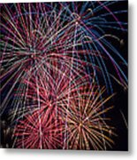 Sky Full Of Fireworks Metal Print