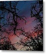 Sky In Blue And Magenta Metal Print
