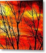 Sky Is Burning Metal Print