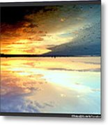 Sky Meets Water Metal Print