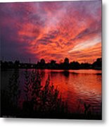 Sky On Fire 2 Metal Print